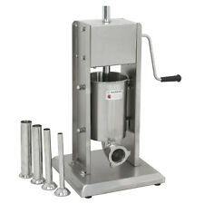 3L Vertical Commercial Sausage Stuffer Meat Stainless Steel Filler 7Lbs 2 Speed