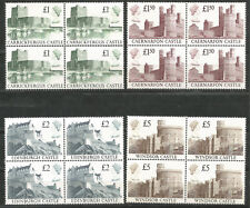 GB Gran Bretaña Año 1988 Castillos en bloque de 4 MNH Alto Valor