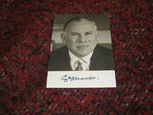 Eugen Gerstenmaier CDU Orginal Autogramm auf Autogrammkarte