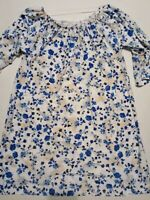 NWT WEST LOOP Blue and White Shirt Size Large