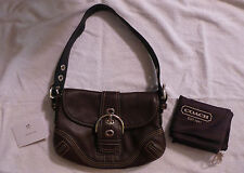 NWOT COACH BROWN CHOCOLATE BUCKLE SOHO LEATHER 10188 SHOULDER BAG PURSE