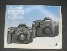 Canon Eos 620 / 650 1987 Camera Instruction Book / Manual / User Guide