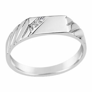 Gents Sterling Silver Diamond Set Fancy Ring Q214