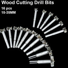 16x Forstner Woodworking Boring Wood Hole Saw Cutter Drill Bit Cemented Carbide