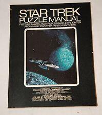 1976 STAR TREK PUZZLE MANUAL- MAZES & TRIVIA UNMARKED