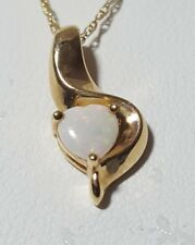 Fred Meyer Jewelers 10K Yellow Gold Necklace with Natural Opal Pendant 1.6 grams