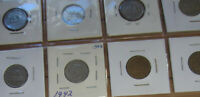 Set of Canada Five Cents (1937-1942) Nickels NICE GRADE COIN