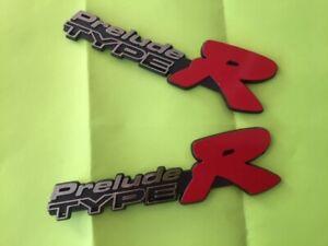 Logo Emblem Honda Prelude Type R 2pcs BIG SALE FREE SHIP