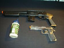 AIRSOFT SHOTGUN & PISTOL COMBO SPRING GUNS & Biodegradable Pellets