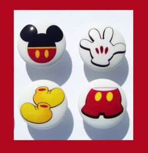 Lot of 4 USA SELLER MICKEY MOUSE Cabinet Drawer Pulls Knobs Handles