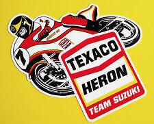 BARRY SHEENE TEXACO HERON TEAM SUZUKI style Motorcycle Decals Stickers 1 PAIR