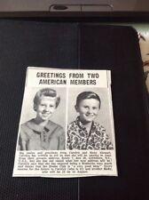 68-2  ephemera 1967 Picture News Item  Carolyn Ricky Stewart Goldsboro N C USA