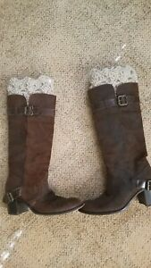 Outlander Inspired Boot Cuffs Beige (oatmeal) Handmade 100% Recycled Lambswool