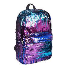 Bleeding Heart Purple Blue Girls Mermaid Glitter Sequin Backpack/School Bag