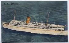 1939 MIAMI FL SS Florida Nassau Cruise Ship P&O Steamship Co. z postcard