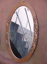 Superbe et rare miroir ovale ART DECO - Glace biseautée