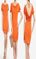 BCBG Maxazria Dress Sz S Orange Dark Persimmon Cocktail Evening Jersey Dress