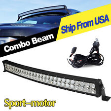32inch 420W Curved LED Light Bar Spot Flood Offroad Jeep UTE 4X4 Driving+Wiring