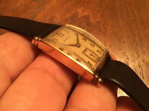 Beautiful Vtg Hamilton MYRON ? 980 17J Men 10K Gold Filled Rectangular Watch