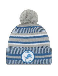 Detroit Lions New Era Fleece Lined Cuffed Winter Hat Cap Size Men's