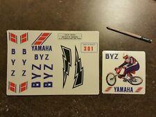 Bmx old school Yamaha 1982 BYZ 301 sticker set Autocollant vintage shimano DX GT
