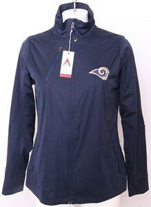 NEW Los Angeles Rams NFL Antigua Navy Full Zip Windbreaker Jacket Women's M