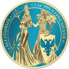 Germania 2019 5 Mark Germania & Britannia - Space Blue & Gold - 1 Oz Silver Coin