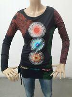Maglia DESIGUAL Donna T-shirt woman Polo Femme Taglia Size M Cotone 8652