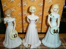 Lot of 3 Enesco Growing Up Girls Age 12, 13, 14 In Boxes Euc