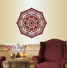 Vinyl Decal Indian Mandala Flower Pattern Ornament Yoga Decor Wall Sticker 918