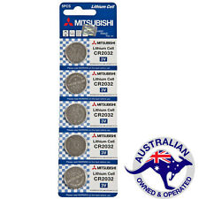 Mitsubishi CR2032 Lithium Cell batteries, pack of 5  - NEW  (019)