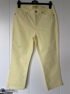 Ladies Yellow crop Trousers size 12