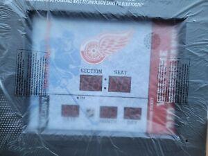 Team Sports America Detroit Red Wings NHL Bluetooth Scoreboard Wall Clock NEW