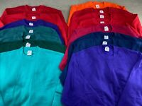Blank Jerzees Sweatshirt Lot Crewneck Multicolor Made in USA Russell 50/50 VTG