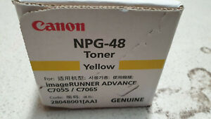 Genuine Canon TG-48Y NPG-48 GPR-33 Yellow Toner IR C7055 C7065 C7260 C7270 BNIB