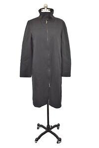 NWT Barneys New York Womens Coat Size 6 Italy Size 40 Black Long Raincoat Trench