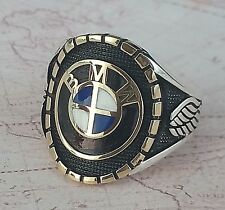 BMW  Ring Solid 925 K Sterling Silver  Mens Ring