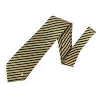 Gianni Versace Classic V2 Silk Handmade Neck Tie Regimental Green Khaki #5438