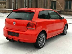 For SE VW Polo 6R Rear Lower Diffuser Black ABS Splitter Addon with Ribs Fins