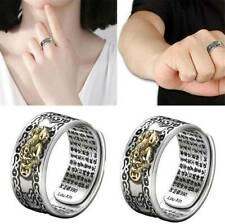 Feng Shui Pixiu Mani Mantra Protection Wealth Ring Quality Best Lucky Adjustable