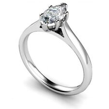 1.50Ct Marquise Diamond Beautiful Elegant Solitaire Engagement Ring 925 Silver