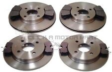 FORD FIESTA MK7 1.6 ST180 ST 180 FRONT AND REAR BRAKE DISCS AND PADS (278MM)