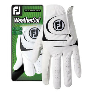 FootJoy WeatherSof White Mens Golf Glove