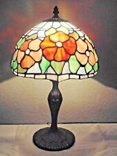 """LAMPS A FANCY VINTAGE TIFFANY STYLE 20""""H STAIN-GLASS FLORAL DISPLAY TABLE LAMP"""