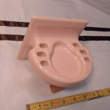 Vintage *Corallin Pink* Ceramic Toothbrush Holder by American Olean  Quality NOS