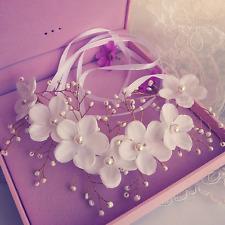 Pearl Flower Crystal Rhinestone Wedding Bridal Headband Crown Hair Band