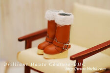 BHC Wooden Long Fur Boots for Kenner Blythe doll Licca / Azone / Pullip -FW220