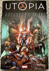 UTOPIA AVENGERS X-MEN HC Deluxe Hardcover Comic Marvel Dark Reign