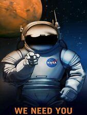 Mars Mission Poster PHOTO Exploration NASA Space Suit Travel Planet Astronaut