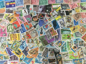 Ghana & Gold Coast Collection Of 150 Different Used Stamps ~ With a few unused